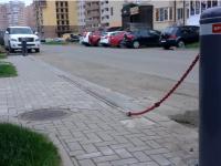 Цепные парковочные барьеры