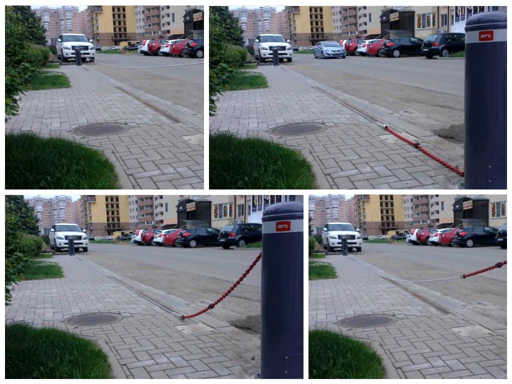 Цепные парковочные барьеры в Нижнем Новгороде