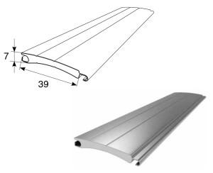 Профиль роллетный роликовой прокатки с пенным наполнителем RH39