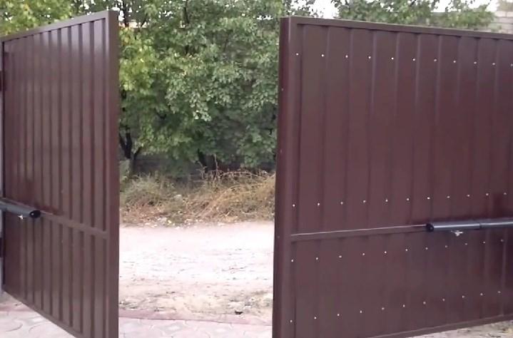 Купить ворота из профнастила